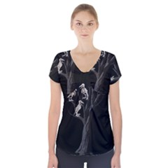 Dead Tree  Short Sleeve Front Detail Top