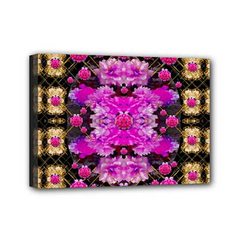 Flowers And Gold In Fauna Decorative Style Mini Canvas 7  X 5