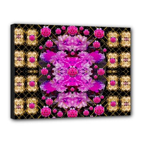 Flowers And Gold In Fauna Decorative Style Canvas 16  X 12