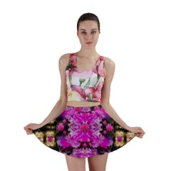 Flowers And Gold In Fauna Decorative Style Mini Skirt