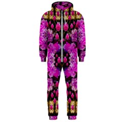 Flowers And Gold In Fauna Decorative Style Hooded Jumpsuit (men)