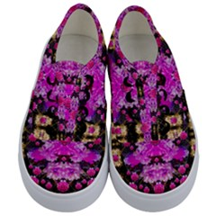 Flowers And Gold In Fauna Decorative Style Kids  Classic Low Top Sneakers