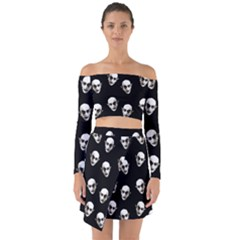 Dracula Off Shoulder Top With Skirt Set