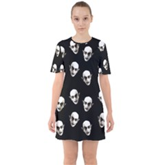 Dracula Sixties Short Sleeve Mini Dress