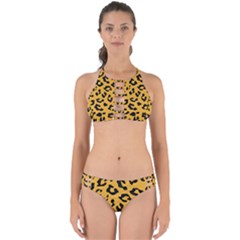 Skin5 Black Marble & Orange Colored Pencil Perfectly Cut Out Bikini Set