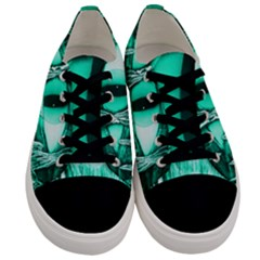 Evil Eye  Turquoise  Men s Low Top Canvas Sneakers
