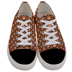 Scales2 Black Marble & Orange Watercolor Women s Low Top Canvas Sneakers