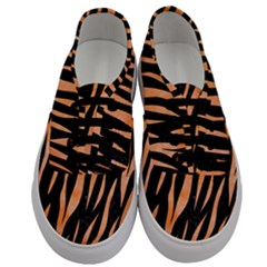 Skin3 Black Marble & Orange Watercolor (r) Men s Classic Low Top Sneakers