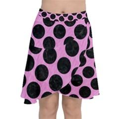 Circles2 Black Marble & Pink Colored Pencil Chiffon Wrap
