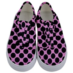 Circles2 Black Marble & Pink Colored Pencil Kids  Classic Low Top Sneakers