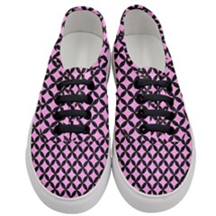 Circles3 Black Marble & Pink Colored Pencil Women s Classic Low Top Sneakers