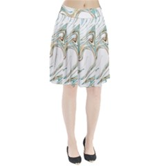Abstract Marble 1 Pleated Skirt