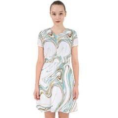 Abstract Marble 1 Adorable In Chiffon Dress