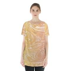 Abstract Marble 6 Skirt Hem Sports Top