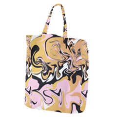 Abstract Marble 9 Giant Grocery Zipper Tote