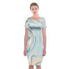 Abstract Marble 11 Classic Short Sleeve Midi Dress