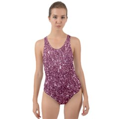 New Sparkling Glitter Print C Cut Out Back One Piece Swimsuit