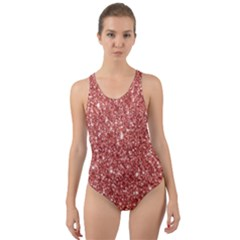 New Sparkling Glitter Print B Cut Out Back One Piece Swimsuit