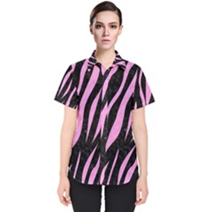 Skin3 Black Marble & Pink Colored Pencil (r) Women s Short Sleeve Shirt