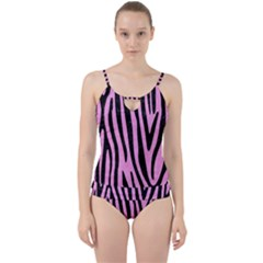 Skin4 Black Marble & Pink Colored Pencil (r) Cut Out Top Tankini Set