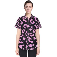 Skin5 Black Marble & Pink Colored Pencil Women s Short Sleeve Shirt