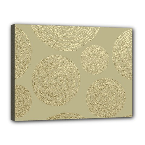 Modern, Gold,polka Dots, Metallic,elegant,chic,hand Painted, Beautiful,contemporary,deocrative,decor Canvas 16  X 12