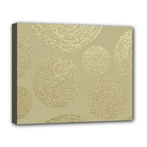 Modern, Gold,polka Dots, Metallic,elegant,chic,hand Painted, Beautiful,contemporary,deocrative,decor Deluxe Canvas 20  X 16