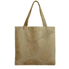 Modern, Gold,polka Dots, Metallic,elegant,chic,hand Painted, Beautiful,contemporary,deocrative,decor Grocery Tote Bag