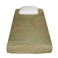 Modern, Gold,polka Dots, Metallic,elegant,chic,hand Painted, Beautiful,contemporary,deocrative,decor Fitted Sheet (single Size)