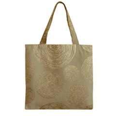 Modern, Gold,polka Dots, Metallic,elegant,chic,hand Painted, Beautiful,contemporary,deocrative,decor Zipper Grocery Tote Bag