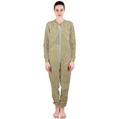 Modern, Gold,polka Dots, Metallic,elegant,chic,hand Painted, Beautiful,contemporary,deocrative,decor Onepiece Jumpsuit (ladies)