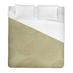 Modern, Gold,polka Dots, Metallic,elegant,chic,hand Painted, Beautiful,contemporary,deocrative,decor Duvet Cover (full/ Double Size)