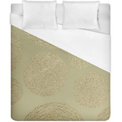 Modern, Gold,polka Dots, Metallic,elegant,chic,hand Painted, Beautiful,contemporary,deocrative,decor Duvet Cover (california King Size)