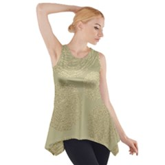 Modern, Gold,polka Dots, Metallic,elegant,chic,hand Painted, Beautiful,contemporary,deocrative,decor Side Drop Tank Tunic