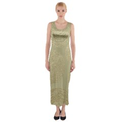 Modern, Gold,polka Dots, Metallic,elegant,chic,hand Painted, Beautiful,contemporary,deocrative,decor Fitted Maxi Dress