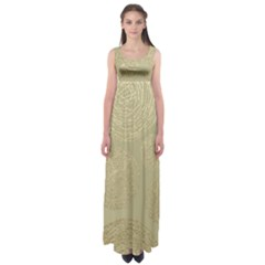 Modern, Gold,polka Dots, Metallic,elegant,chic,hand Painted, Beautiful,contemporary,deocrative,decor Empire Waist Maxi Dress