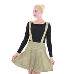 Modern, Gold,polka Dots, Metallic,elegant,chic,hand Painted, Beautiful,contemporary,deocrative,decor Suspender Skater Skirt