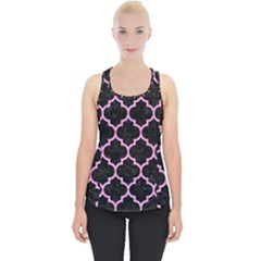 Tile1 Black Marble & Pink Colored Pencil (r) Piece Up Tank Top