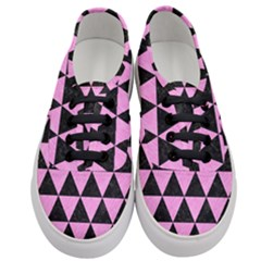 Triangle3 Black Marble & Pink Colored Pencil Women s Classic Low Top Sneakers