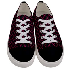 Brick2 Black Marble & Pink Leather (r) Women s Low Top Canvas Sneakers
