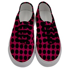 Circles1 Black Marble & Pink Leather Men s Classic Low Top Sneakers