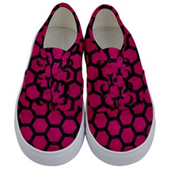 Hexagon2 Black Marble & Pink Leather Kids  Classic Low Top Sneakers