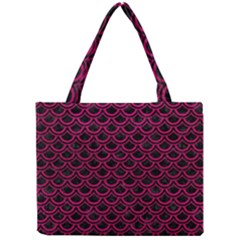 Scales2 Black Marble & Pink Leather (r) Mini Tote Bag