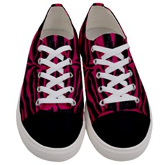 Skin2 Black Marble & Pink Leather (r) Women s Low Top Canvas Sneakers