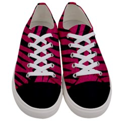 Skin3 Black Marble & Pink Leather Women s Low Top Canvas Sneakers