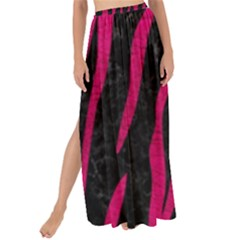 Skin3 Black Marble & Pink Leather (r) Maxi Chiffon Tie Up Sarong
