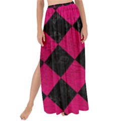 Square2 Black Marble & Pink Leather Maxi Chiffon Tie Up Sarong