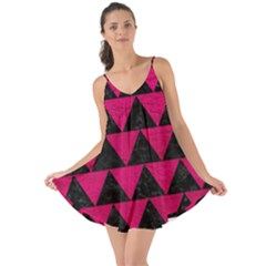 Triangle2 Black Marble & Pink Leather Love The Sun Cover Up
