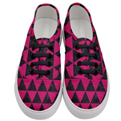 Triangle3 Black Marble & Pink Leather Women s Classic Low Top Sneakers