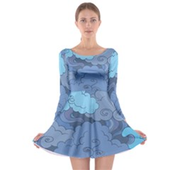 Abstract Nature 1 Long Sleeve Skater Dress